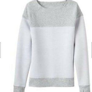 ATHLETA Fuse Gray White Sweatshirt